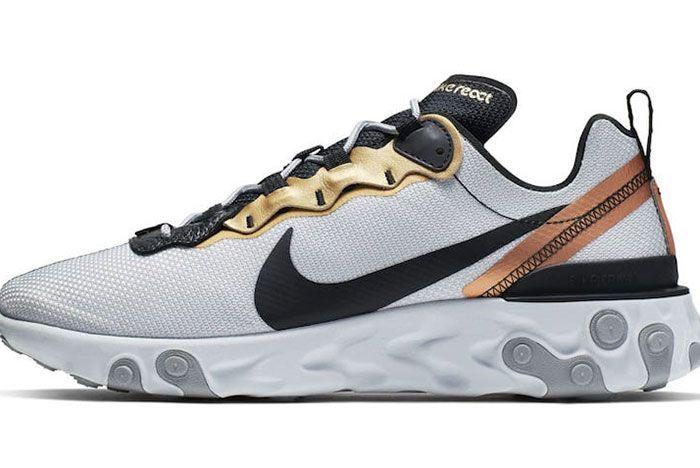 Nike React Element 55 Metallic Gold 1