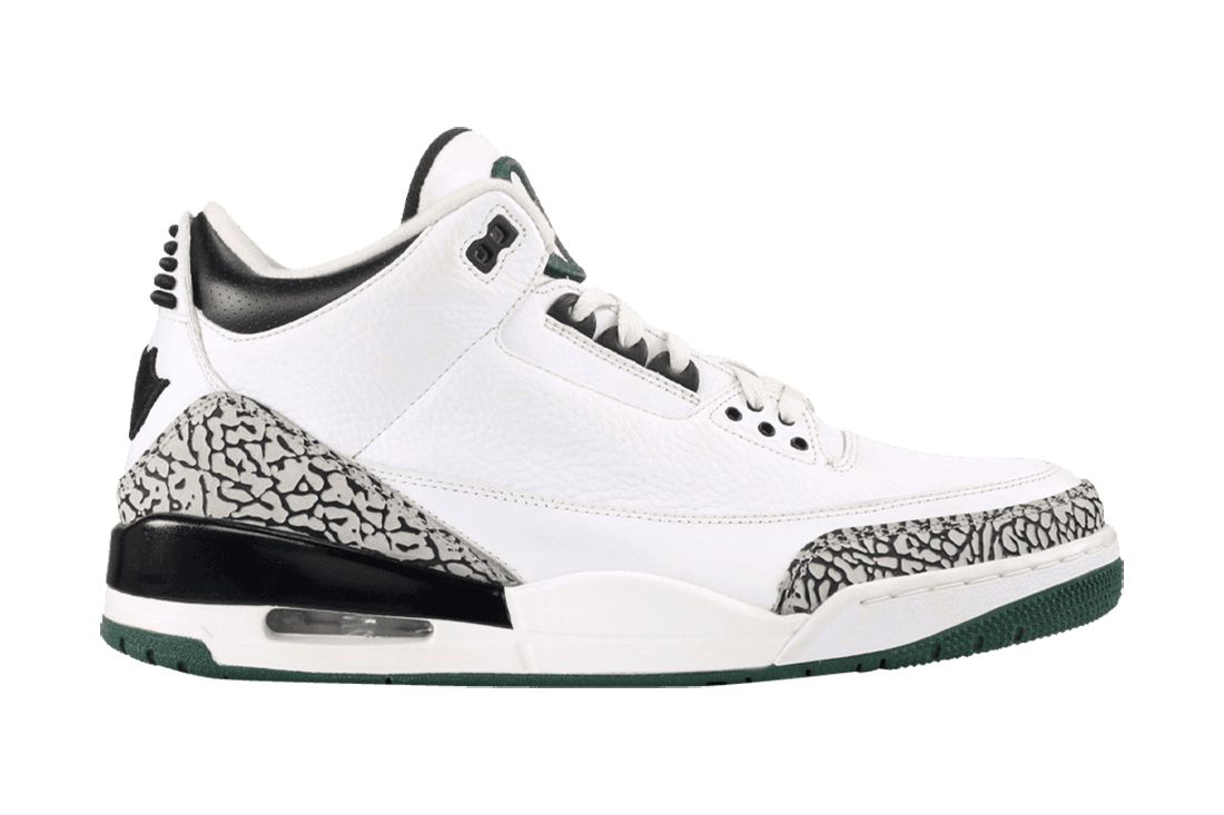 Oregon Pit Crew White Air Jordan 3 Best Feature