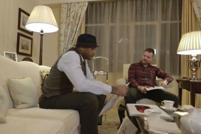 Dave White X Carmelo Anthony Tea For Two Close On Couch 1