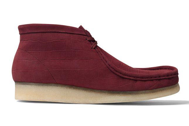 Supreme X Clarks Wallabee Boot Burgundy Side 1