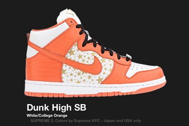 Nike Dunk Sb High Supreme Orange 2003 2