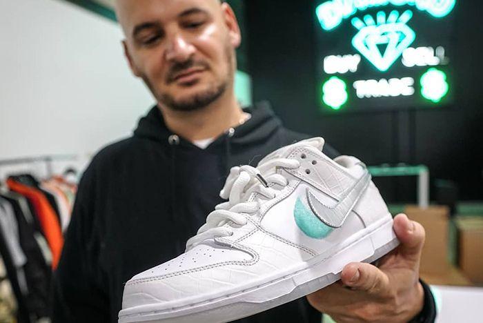 Diamond Supply Co Nike Sb Dunk Low Tiffany White 1