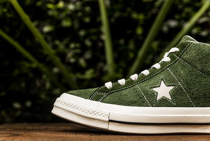 Converse One Star Mid Shadow Green 5