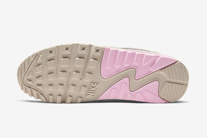 Nike Air Max 90 Grey Grey Pink Outsole
