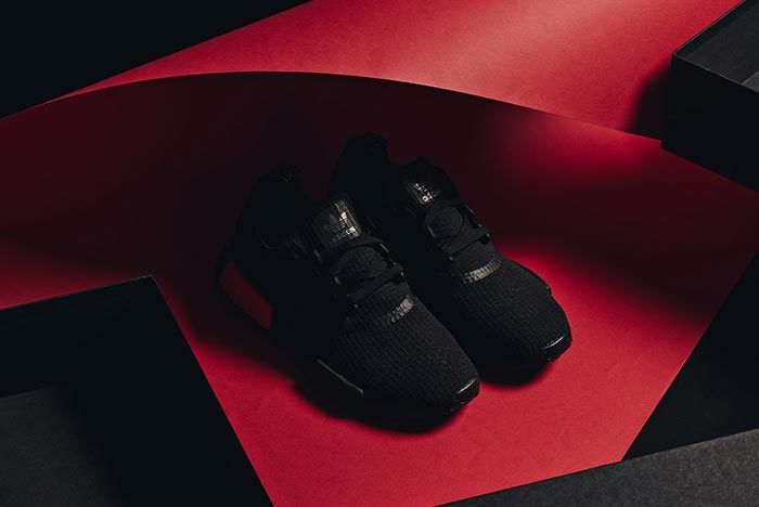 Adidas Nmd R1 Core Black Lust Red 5