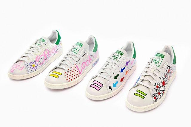 Pharrell Williams Hand Painted Adidas Originals Stan Smith 1