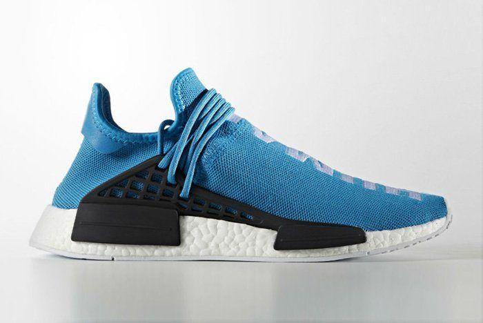 Pharrell Williams X Adidas Hu Nmd Blue