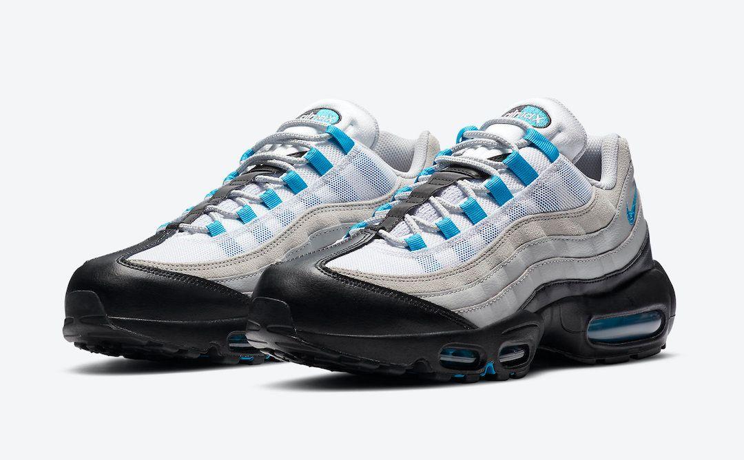 Nike Air Max 95 Laser Blue Angled