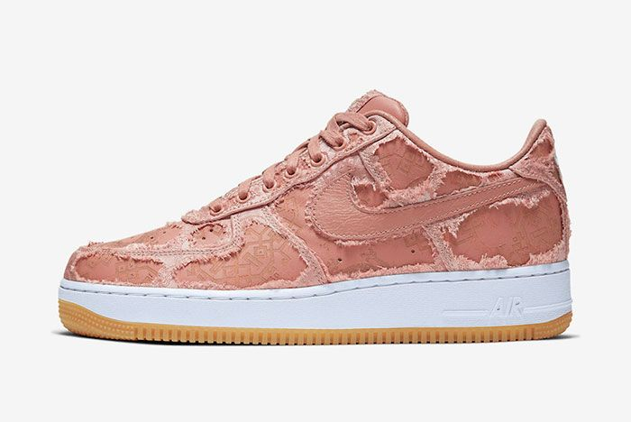 Clot Nike Air Force 1 Rose Gold Cj5290 600 Tearaway Lateral