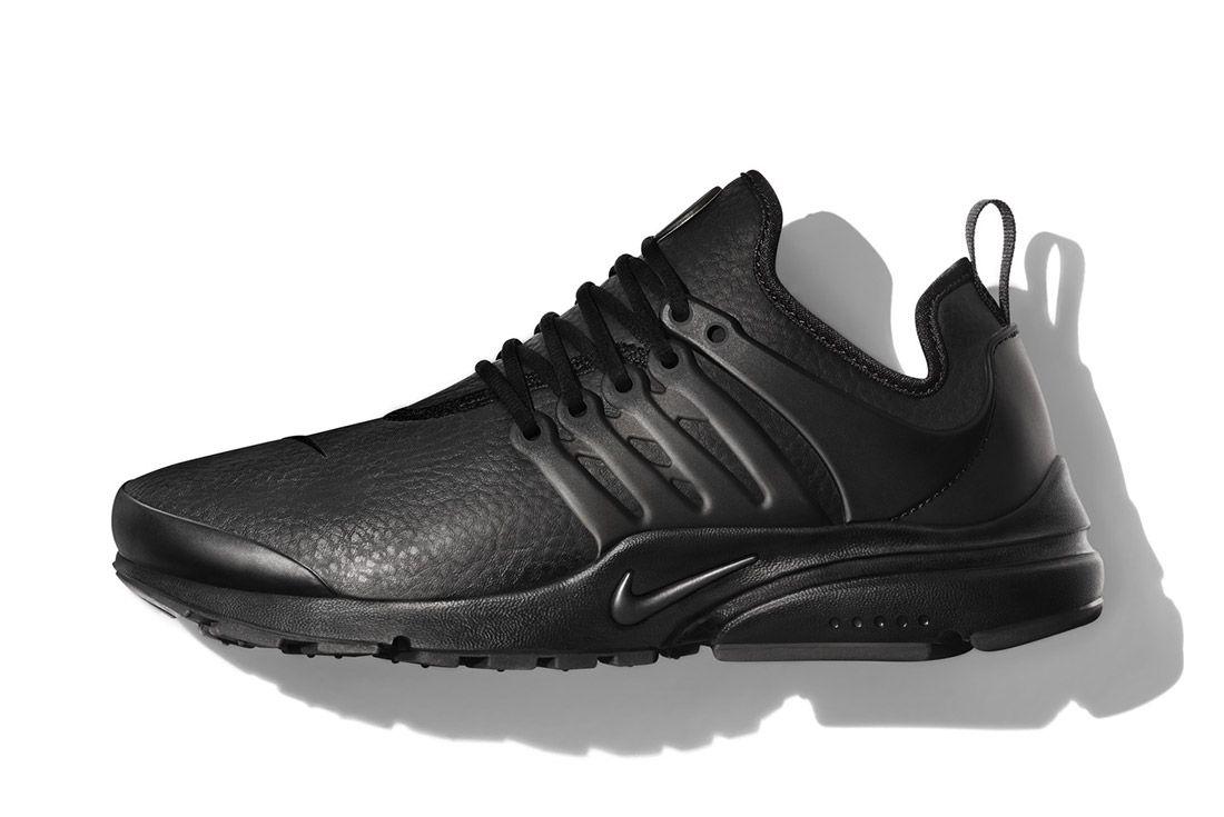 Nike Beautiful Powerful Black Leather Air Presto