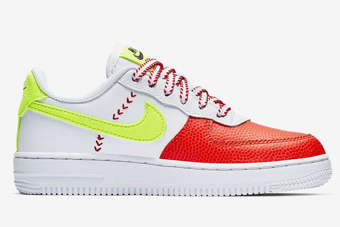 Nike Air Force 1 Red Green Right