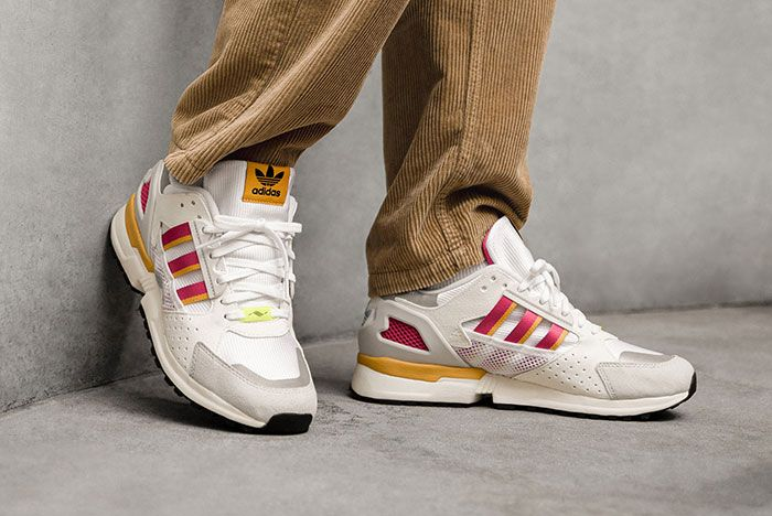 Adidas Zx 10 000 C Ftwr White Fv6308 Lateral On Foot Side Shot