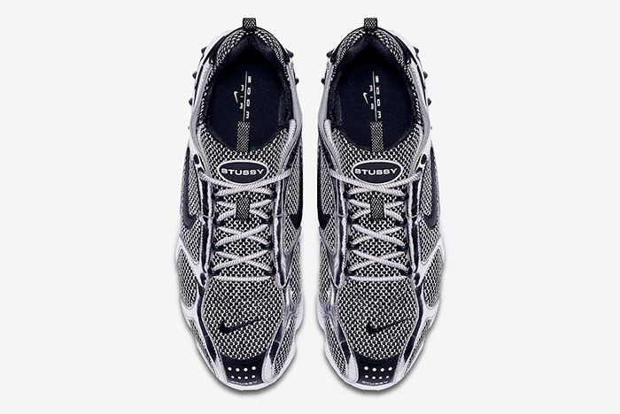 Stussy Nike Air Zoom Spiridon Caged Pure Platinum Top