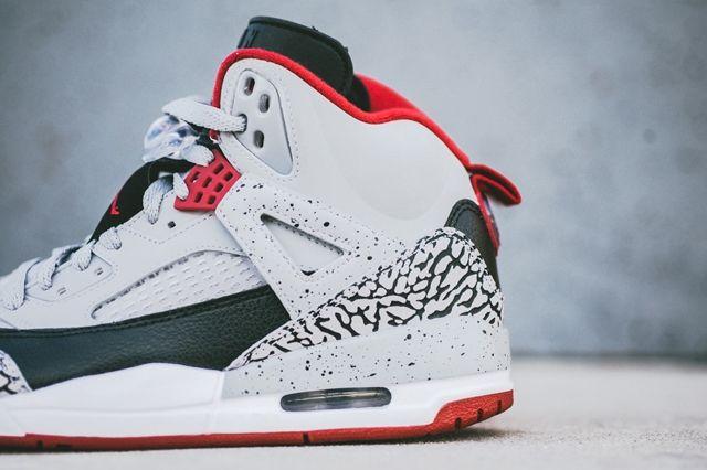 Air Jordan Spizike Wolf Grey Gym Red 5