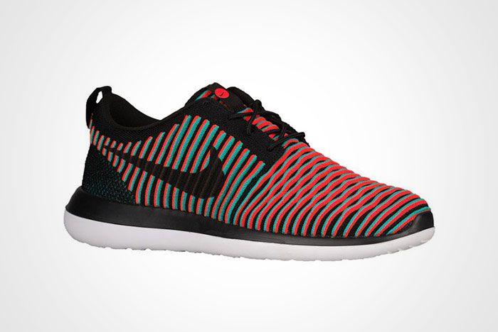 Nike Roshe Two Flyknit Black Crimson Jade Thumb
