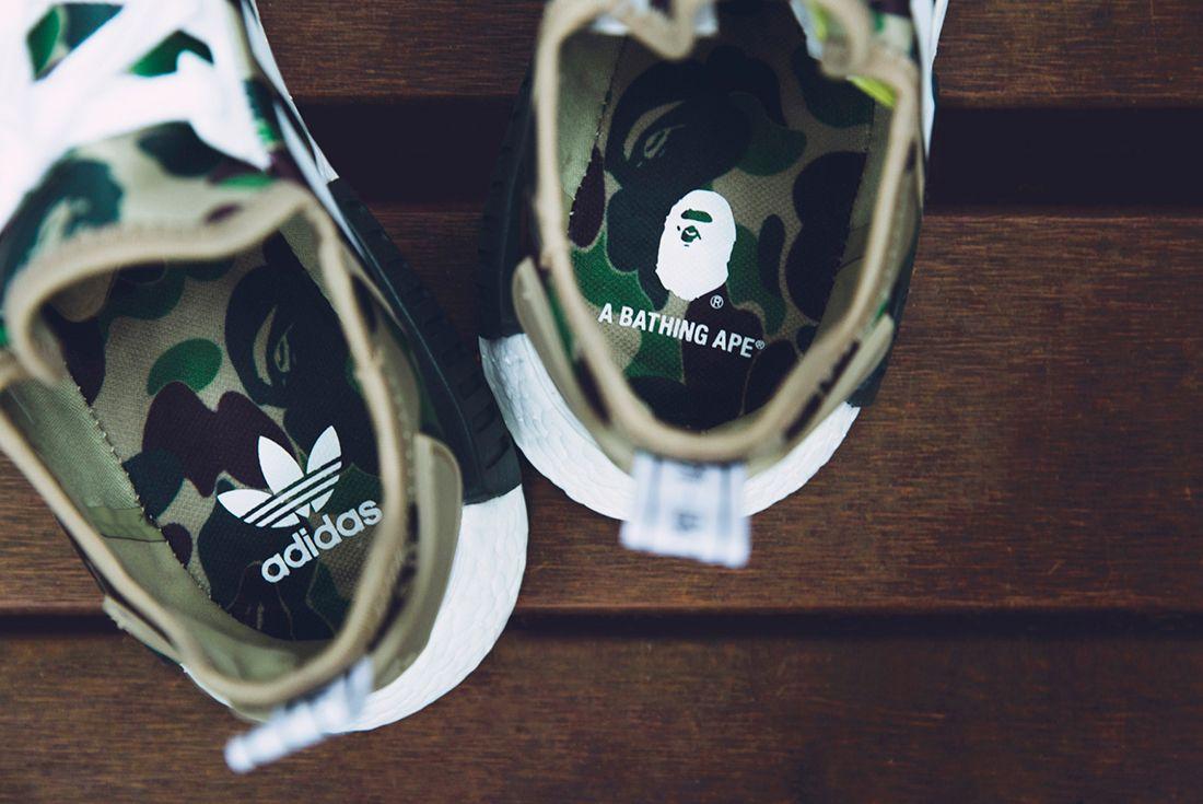 Bape X Adidas Nmd R1 Camo Pack12