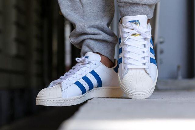Adidas Superstar 80S Dark Royal Chalk 2