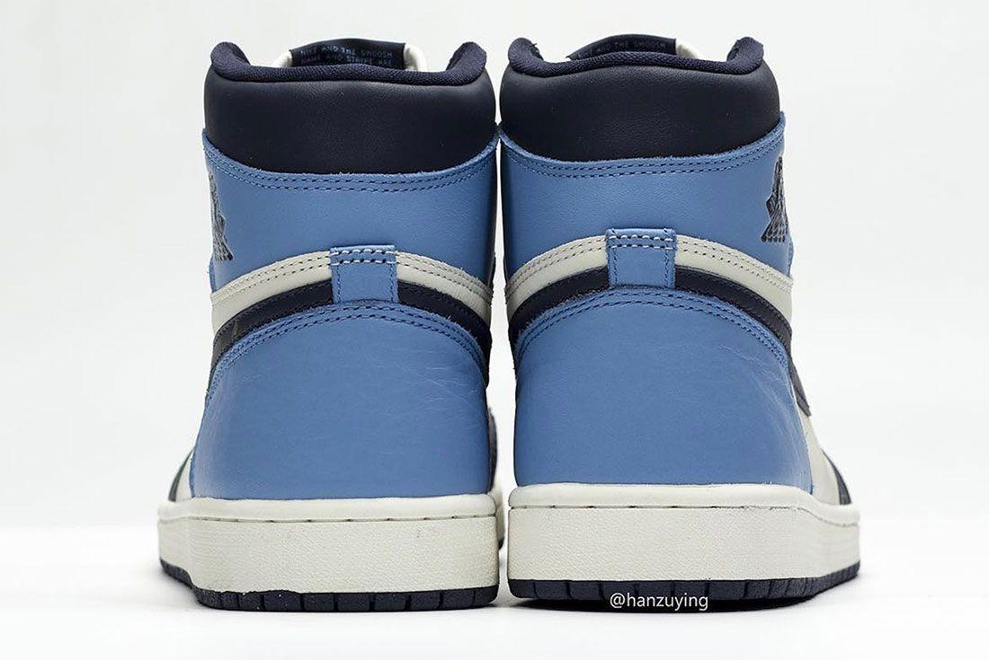 Air Jordan 1 Unc Heel 1