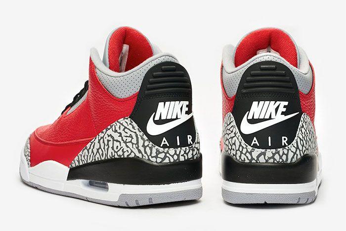 Air Jordan 3 Red Cement Heel