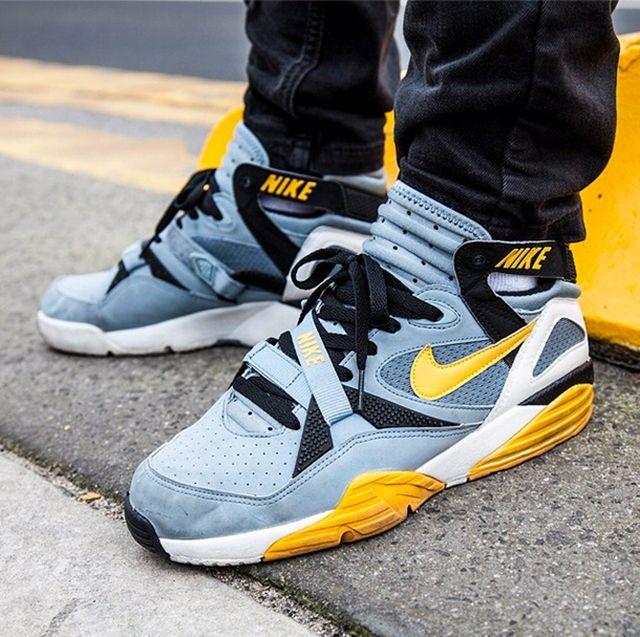 Nike Air Trainer Max 91 Stone Grey Yellow Black Hansdc