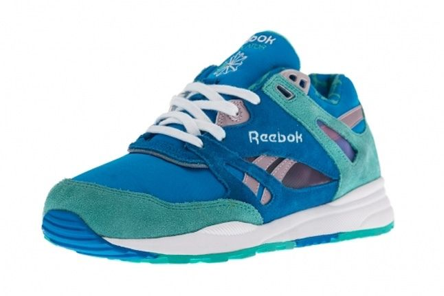 Reebok Ventilator Leopard Green Toe Quarter 1