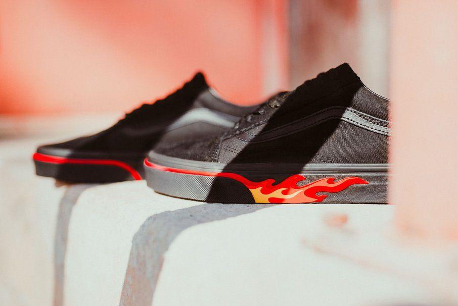 Vans Old Skool Flame Wall Black Blk 2 1024X1024
