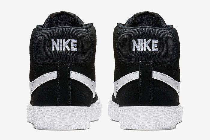 Nike Sb Blazer Mid Black White 5
