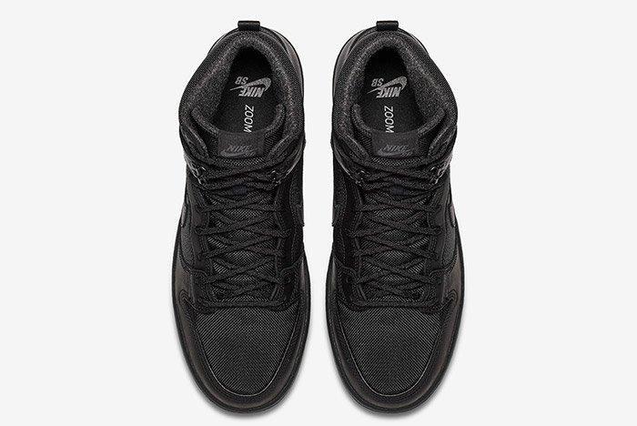 Nike Sb Dunk High Winter Triple Black 3