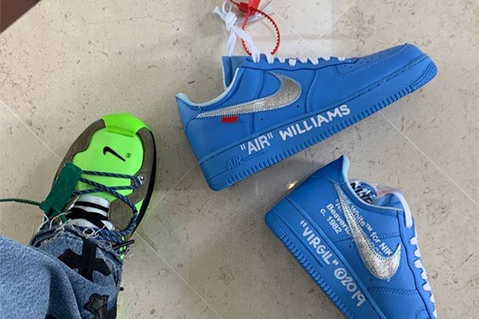 Off White Nike Air Force 1 Low Blue Mca Serena Williams Release Date Instagram Story