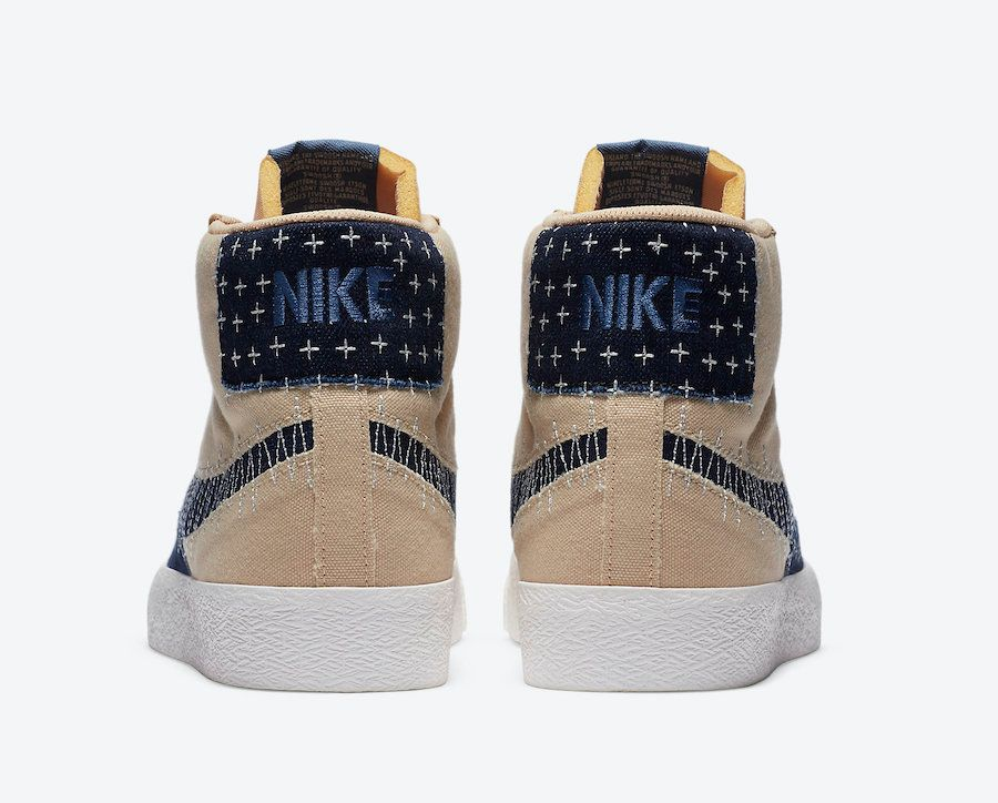 Nike SB Blazer Mid Sesame Heel