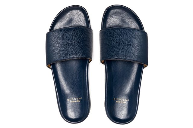 Buscemi Calfskin Leather Slides 6