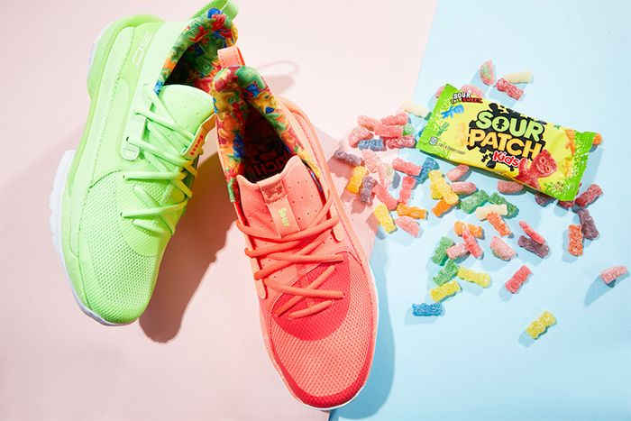 Sour Patch Kids Under Armour Curry 7 Lime Peach Release Date Hero