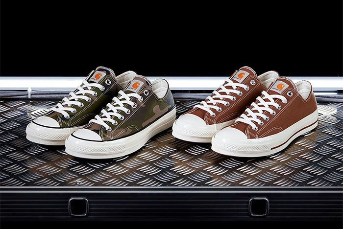Carhartt Wip Converse Chuck Taylor 70 Camo Brown Three Quarter Lateral Side Shot