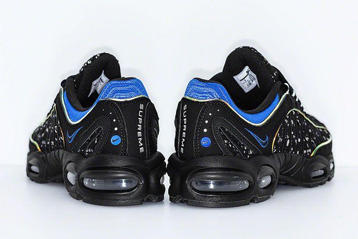 Supreme Nike Air Max Tailwind 4 Black Blue Release Date Heel