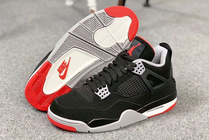 Air Jordan 4 Bred Pair Side Shot2
