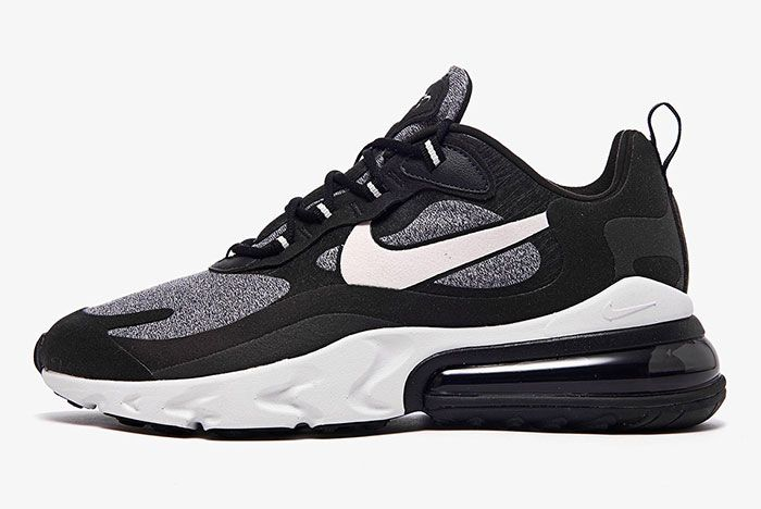 Nike Air Max 270 React White Grey Black Ao4971 001 Lateral Side Shot