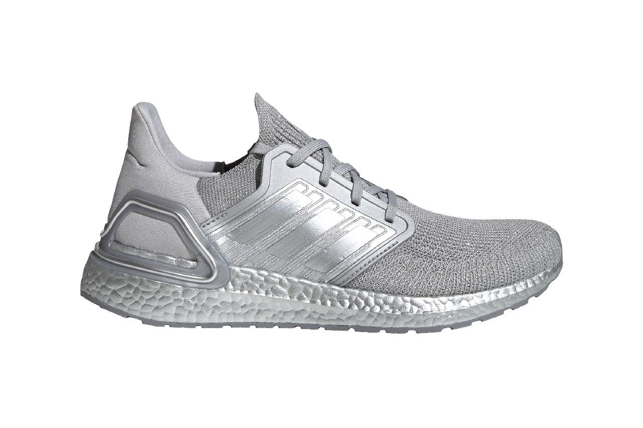 adidas UltraBOOST 20 Silver Metallic Right