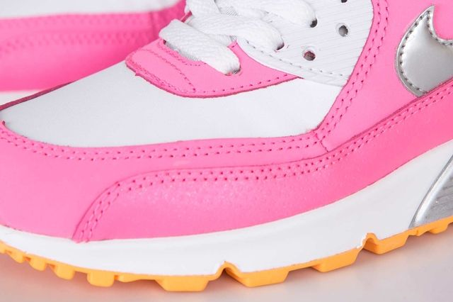 Nike Air Max 90 Gs Pink Glow Metallic Silver 2