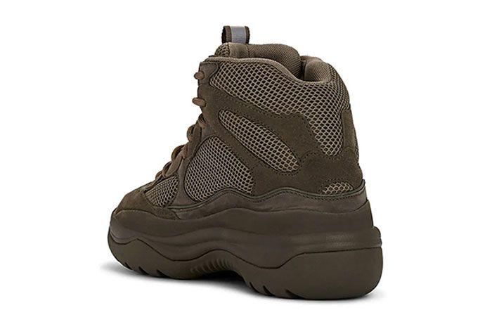 Yeezy Season 7 Military Boot Brown Heel