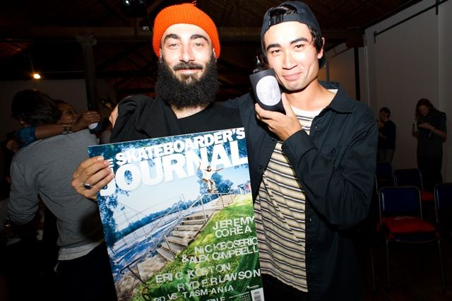 Nick Boserio Receives His Skateboarders Journal Cover 1