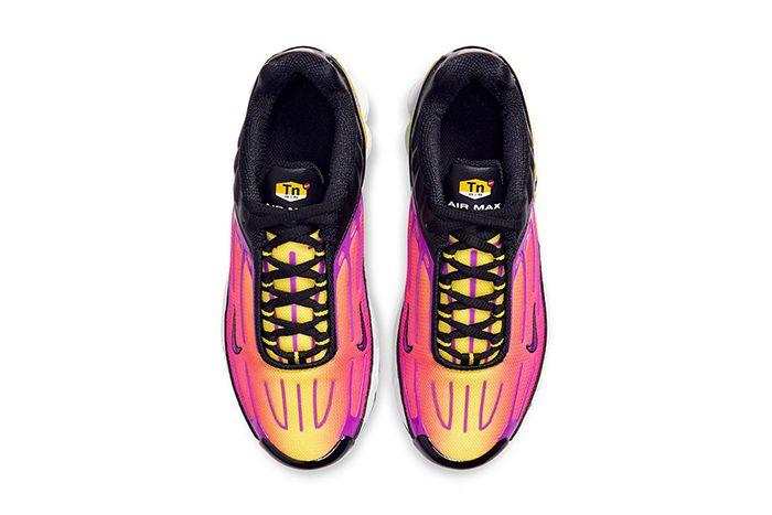 Nike Air Max Plus 3 Black Hyper Purple Optic Yellow Cd6871 005 Release Date Top Down