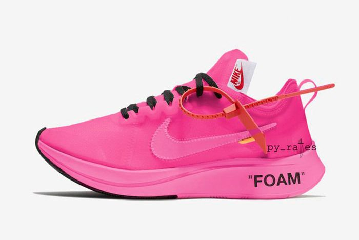Off White X Nike Zoom Fly Racer Pink Tulip 3