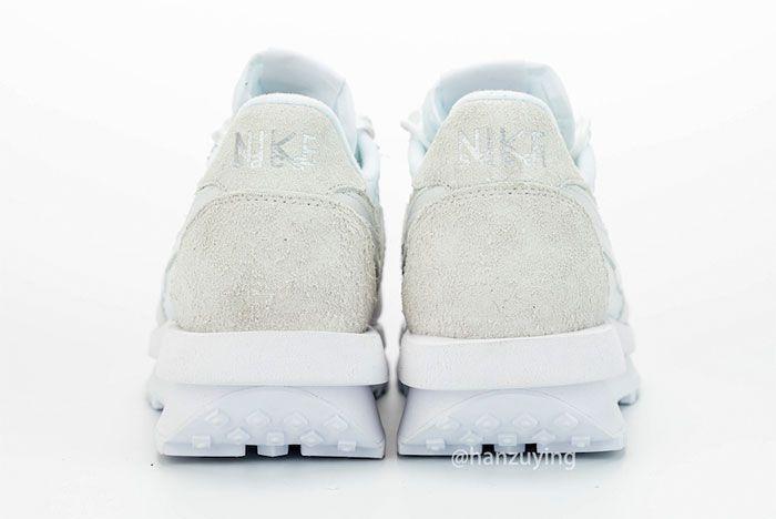 Sacai Nike Ldwaffle White Nylon Heel