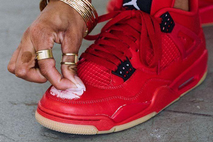 Air Jordan 4 Singles Day Fire Red Gum Hidden Detail