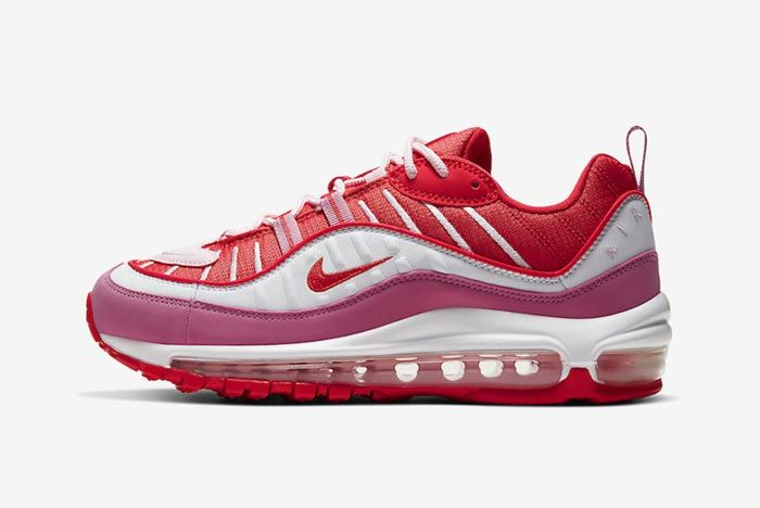Nike Air Max 98 Pink Red Lateral