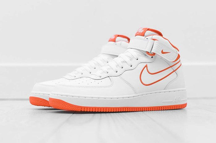 Nike Air Force 1 Mid White Orange 2