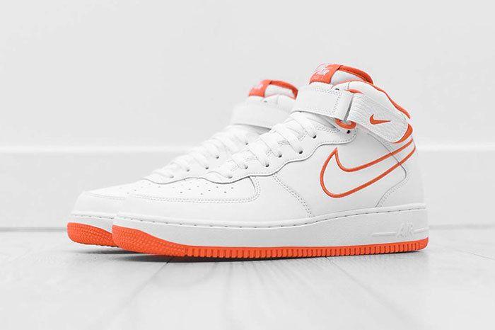 Nike Air Force 1 Mid White Orange 2