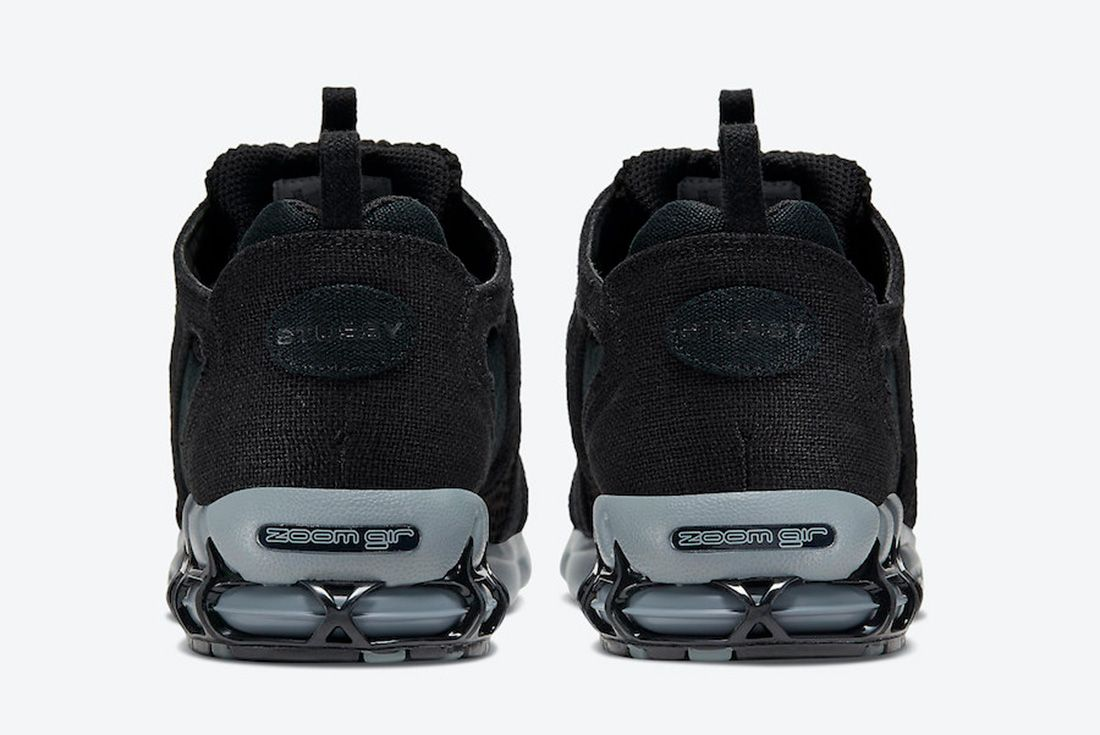 Stussy x Nike Air Zoom Spiridon Cage 2 Black Heel