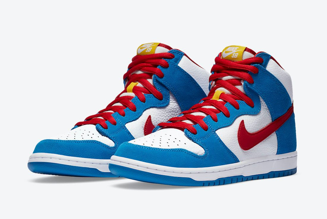 Nike SB Dunk High Doraemon Angled