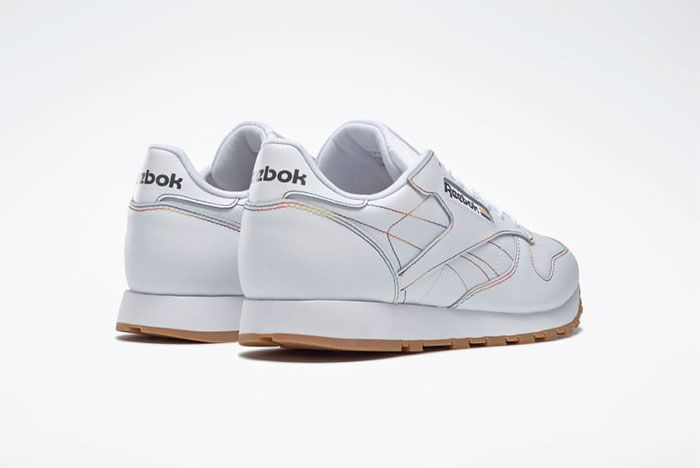 Reebok Pride Pack White Classic Leather Back View